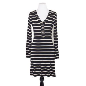 Fate Striped Button Front Ribbed Mini Dress Size S
